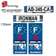 Sticker plaque immatriculation Ironman