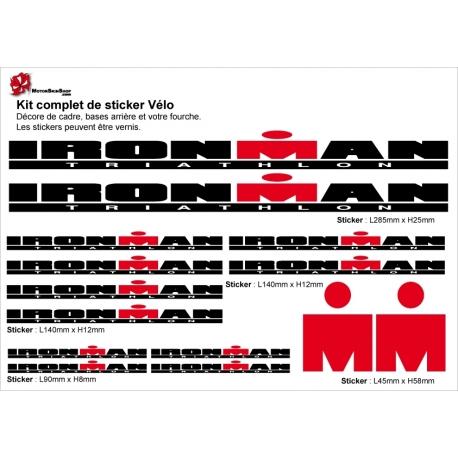 Sticker cadre Ironman Vélo