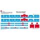 Sticker cadre Ironman vélo XXL