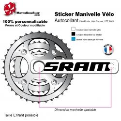 Sticker Manivelle Vélo Sram