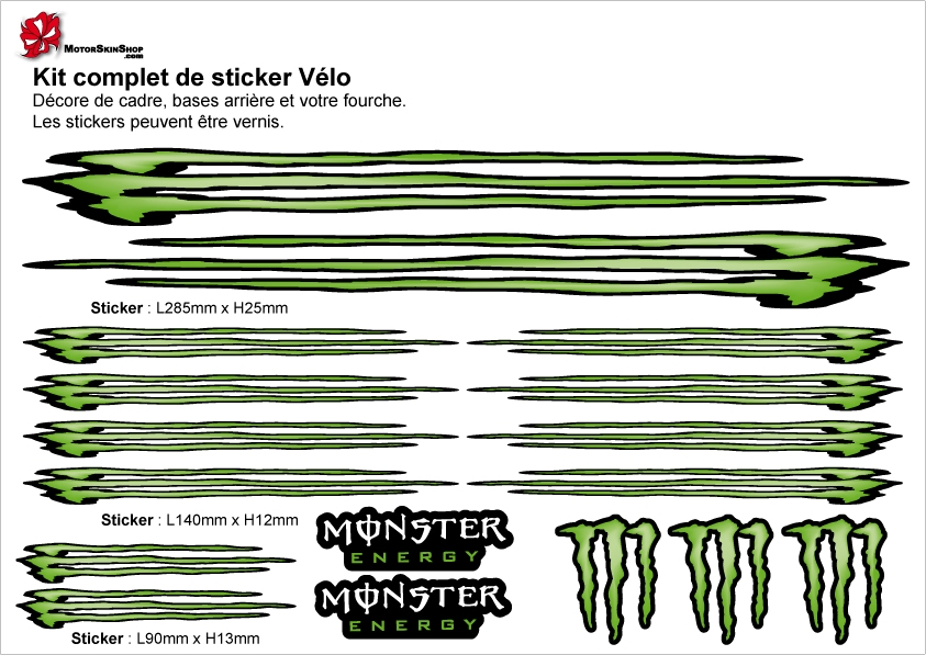 Stickers Monster Energy Grand Format