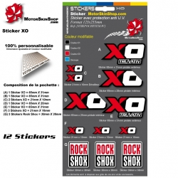 Planche Sticker XO Truvativ Sram manivelle vélo