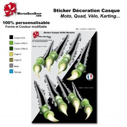 Planche Sticker Griffe Monstre Monster casque