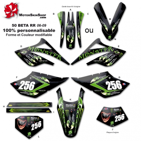 Kit déco 50 Beta RR 06-09 Griffe Monster