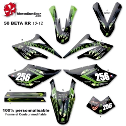 Kit déco 50 Beta RR 10-12 Monster Energy Griffe Perso