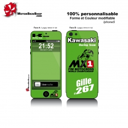 Sticker iPhone 5 Kawasaki Moto Cross