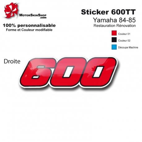 Sticker 600 Moto Yamaha 84-85