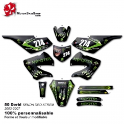 Kit déco 50 Derbi Monster Energy Griffe 03-07