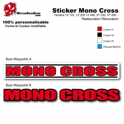 Sticker Mono Cross Yamaha