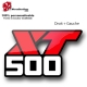 Sticker 500 XT Moto Yamaha restauration
