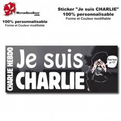 sticker Je suis Charlie Soutient Attentat du 07-01-2015