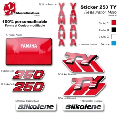 Sticker 250 TY Yamaha