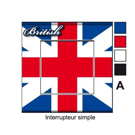 Sticker prise drapeau Anglais universel