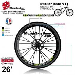 Sticker jante Syncros XC 39 VTT