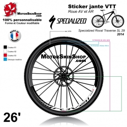 Sticker jante Specialized Roval Traverse SL 2014 VTT