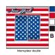 Sticker prise drapeau Américain universel