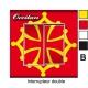 sticker prise drapeau occitan universel