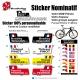 Sticker nom Vélo cadre et selle personnalisable