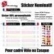 Sticker nominatif Vélo Casque personnalisable