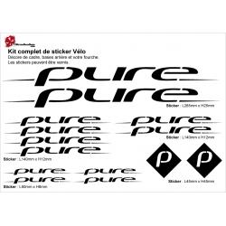 Sticker cadre PURE BMX