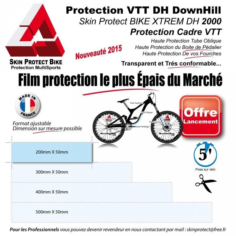 protection cadre oblique vtt skin protect bike vtt descente oblique hd