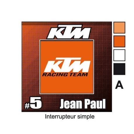 Sticker Prise et Interrupteur électrique moto KTM
