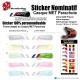 Sticker nominatif Casque MET Parachute VTT