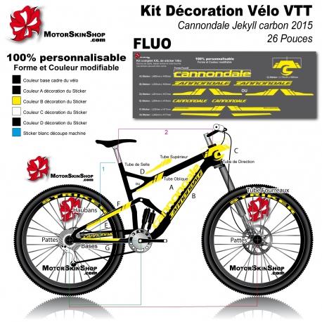 Sticker cadre VTT Cannondale Jekyll carbon 2015