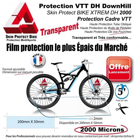 protection cadre vtt skin protect bike xtrem dh 2000 peau rhino