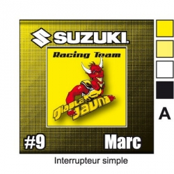 Sticker prise Suzuki interrupteur universel