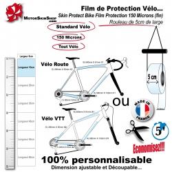 Film de Protection vélo unitaire 5cm de large bande économique