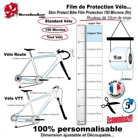 Film de Protection Vélo unitaire 10cm de large économique