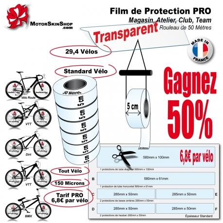 Film de Protection PRO Rouleau 5cm Vélo et Bike