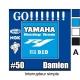 Sticker Prise et Interrupteur électrique Moto Sportive Yamaha