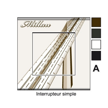 Sticker prise viaduc Millau interrupteur