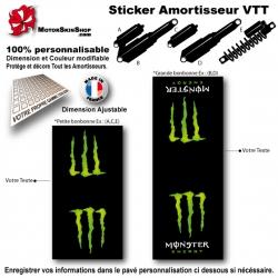 Sticker Amortisseur VTT Monster Energy Noir Bonbonne