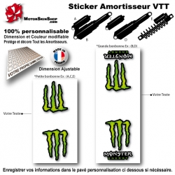 Sticker Amortisseur VTT Monster Energy Blanc Bonbonne