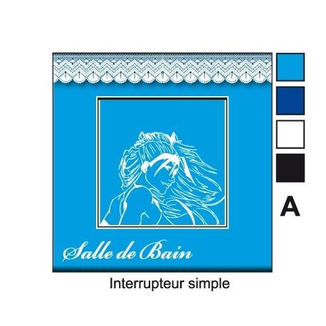 sticker prise salle de bain interrupteur décoration personnalisable