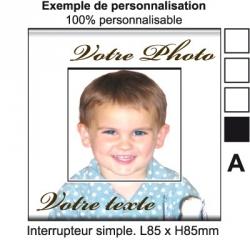 Sticker Prise personnalisable interrupteur perso