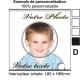Sticker Prise avec photo et image