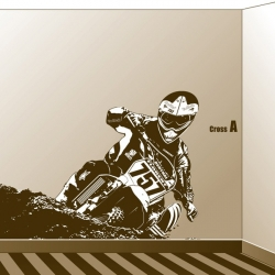 Sticker poster Moto Cross grand format