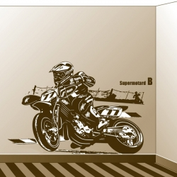 sticker poster Supermotard grand format personnalisable