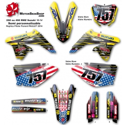 kit déco 250 RMZ Suzuki 13-14-15 replica Florent PAULET 2014