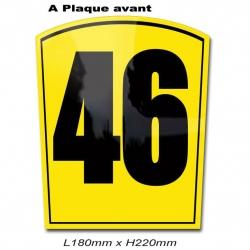 Plaque Numéro Avant Karting
