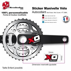 Sticker Manivelle Vélo Sram XO