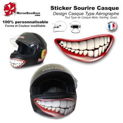 Décoration casque aérographe Sourire sticker