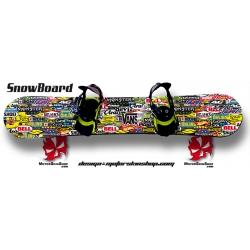 Sticker Patchwork Sponsor SnowBoard