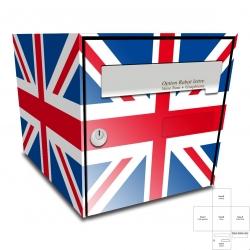 Sticker Boite aux lettres drapeau Anglais