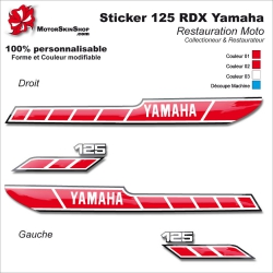 Sticker 125 RDX Moto Yamaha 1978 Type origine