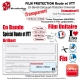 Film Protection cadre Vélo Route VTT Universel 150 Microns Bande Découpé